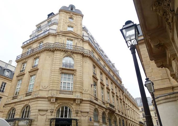 Exterior view of Grand Hôtel du Palais Royale in Paris