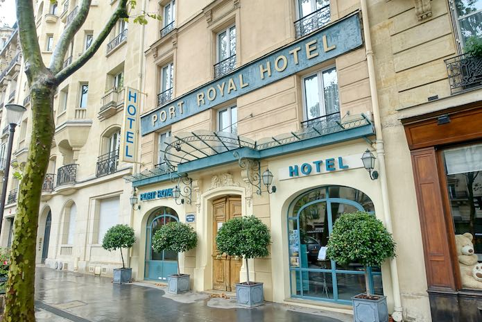 In front of Port Royal Hotel in Paris