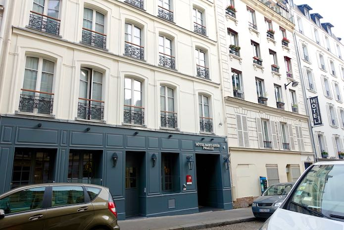 Exterior view of Hotel Saint-Louis Pigalle in Paris