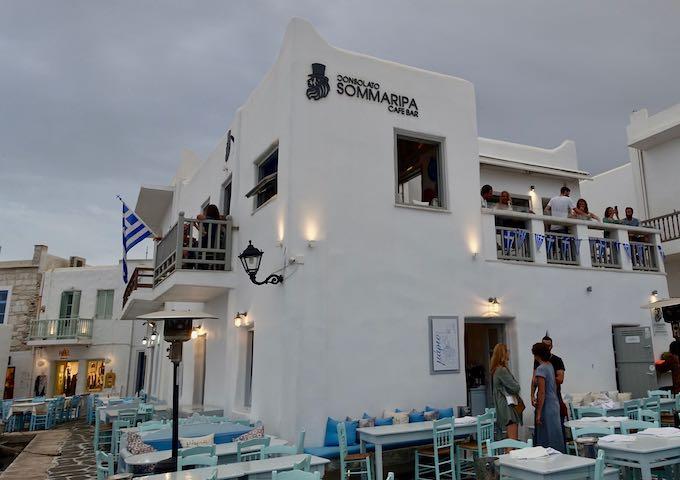 Consolato Sommaripa bar in Naoussa, Paros