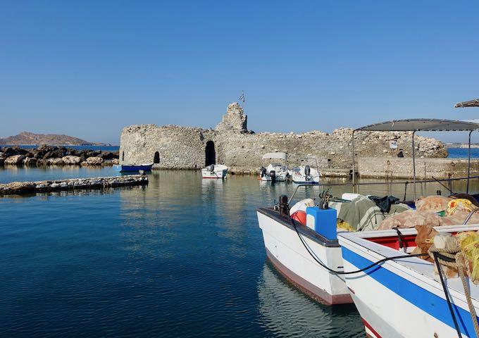 Venetian castle ruins in Naoussa, Paros
