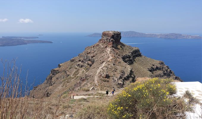 A view of Skaros Rock in Imerovigli