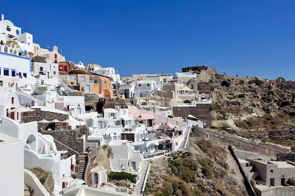 View of Oia village.