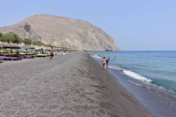 Perissa Beach in Santorini