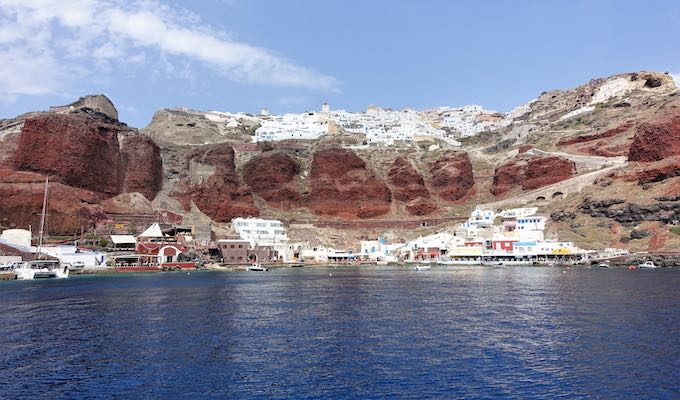View of Oia from Ammoudi Bay