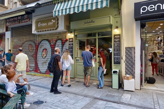 Falafellas Street Food in Monastiraki
