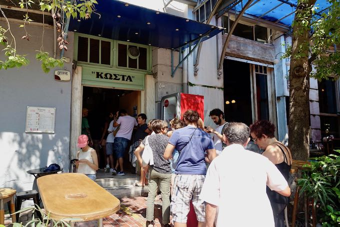Kostas gyros and souvlaki in Monastiraki