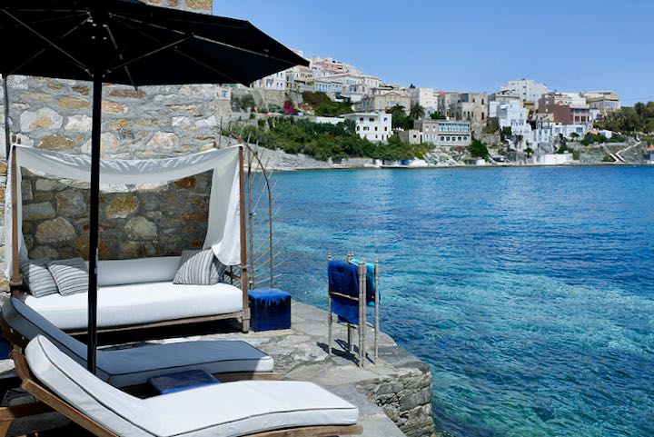 Best waterfront hotel near Syros Port.