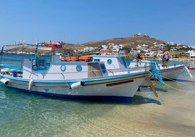 Mykonos Water Taxi on Beach