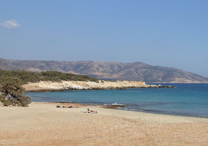 Aliko Beach in Naxos