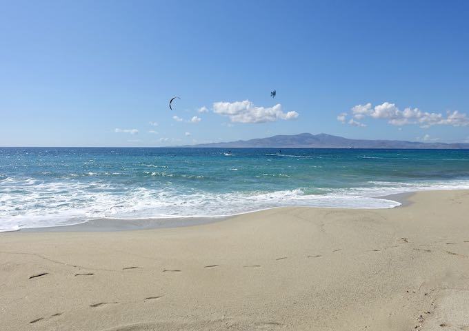 Kastraki Beach in Naxos
