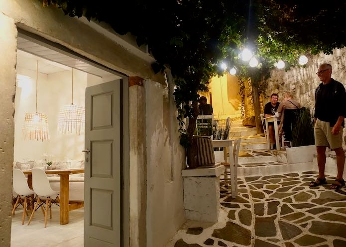 Lithos restaurant in Naxos Town
