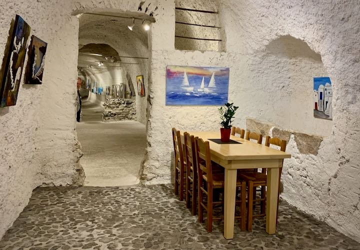 Art gallery winery in Santorini