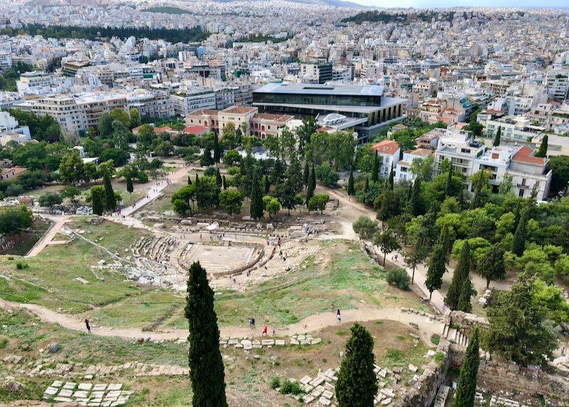 Acropolis Musuem in Athens, Greece.