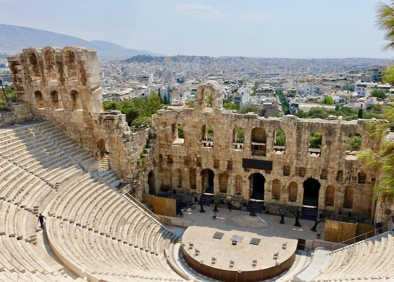 Acropolis in Athens, Greece.