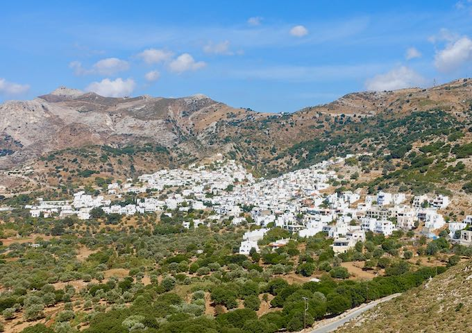 Filoti village in Naxos