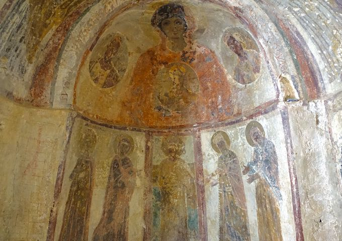 Frescoes in Panagia Drosiani church in Moni, Naxos