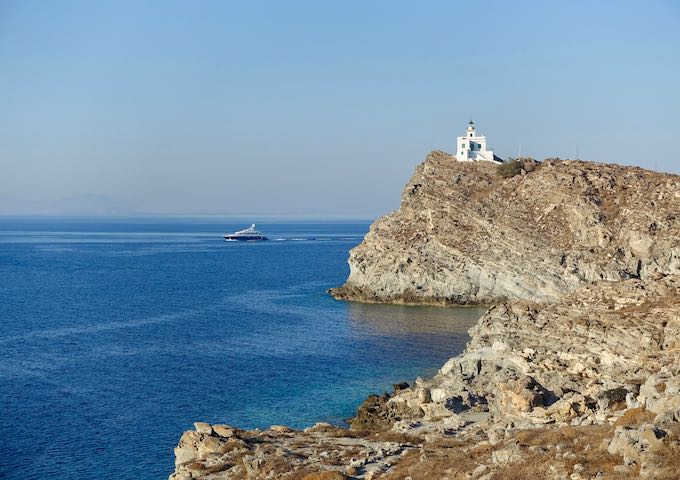 Lighthouse at Paros Park in Paros