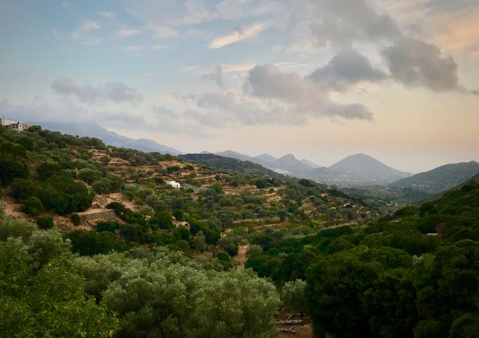 Mountainous countryside in Naxos, Greece