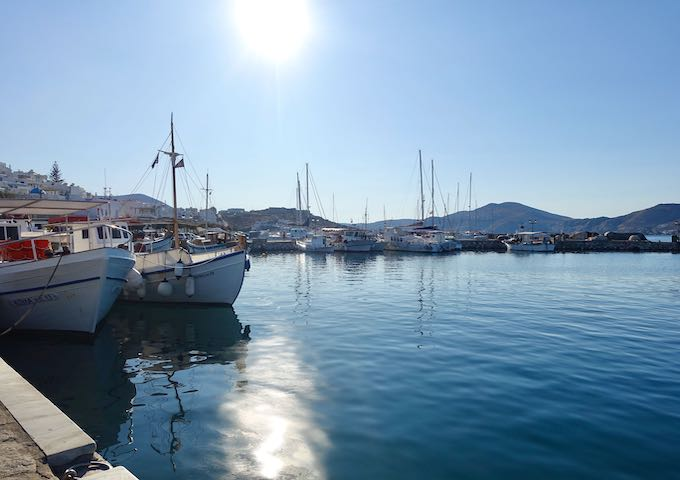 The Old Port of Naoussa in Paros, Greece