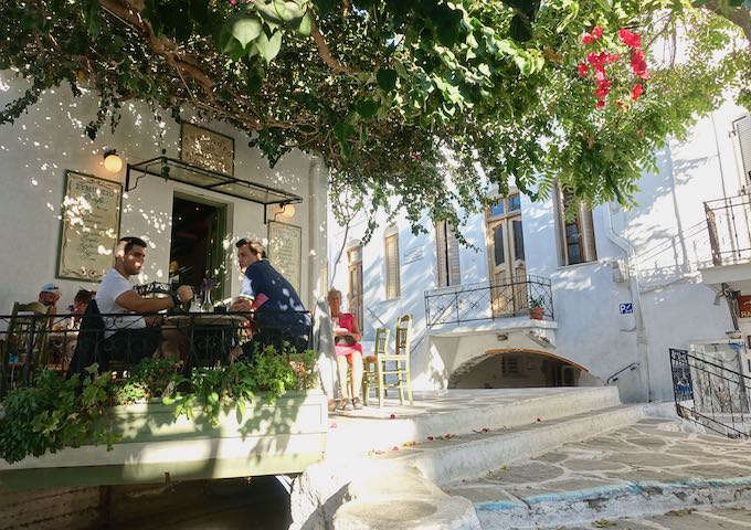 Cafe Symposium in Parikia, Paros