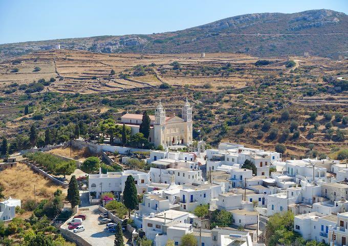 The mountain village Lefkes in Paros