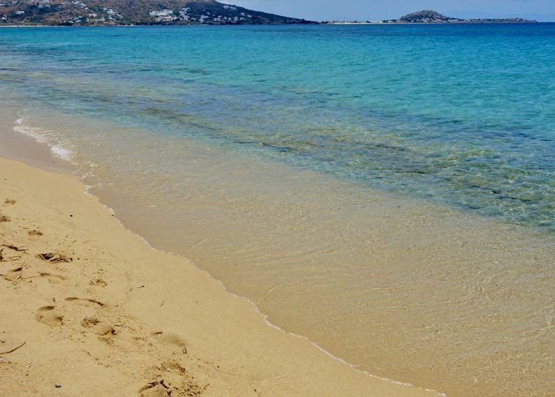 Plaka Beach in Naxos, Greece.