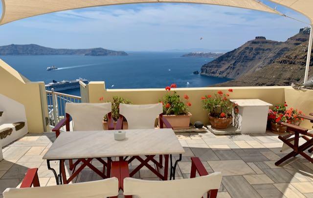 Hotel in Fira, Santorini.