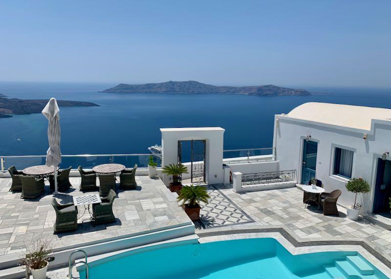Santorini Hotel with Caldera and Volcano View.