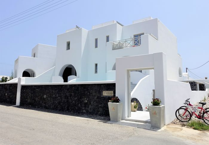 Boutique hotel in Kamari, Santorini.