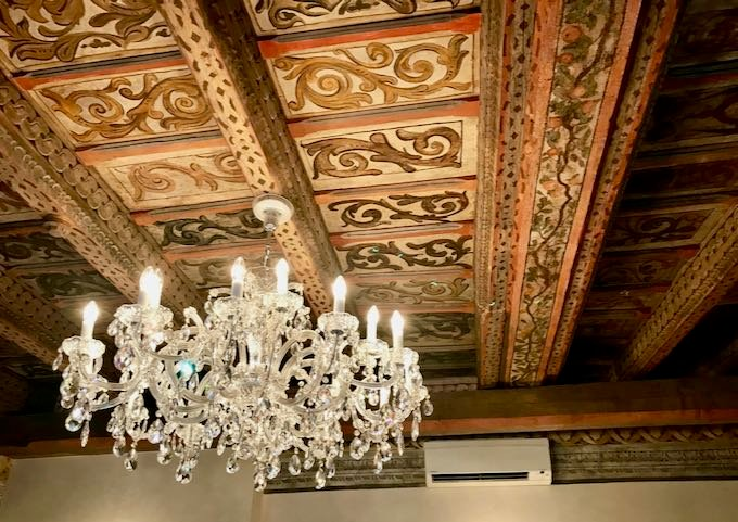 The painted ceiling is gorgeous.