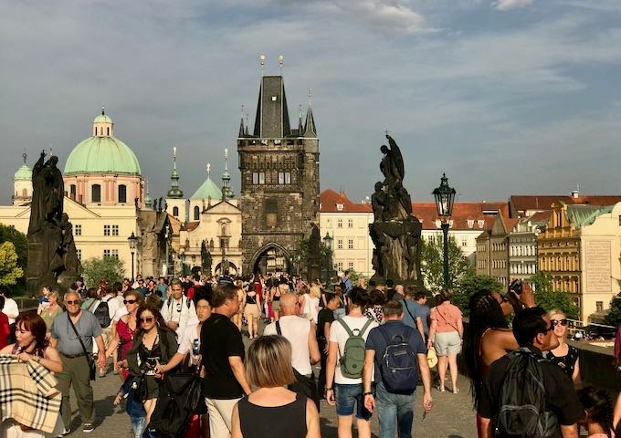 The Charles Bridge is very picturesque.