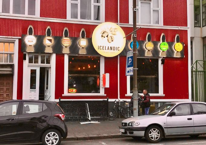 Icelandic Craft Bar specializes in brews from local microbreweries.