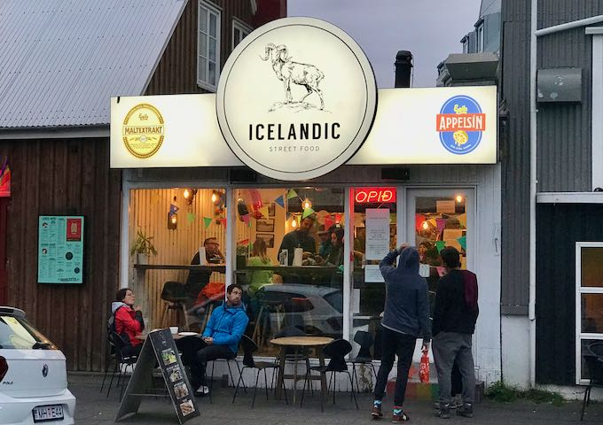 Icelandic Street Food serves great local dishes.
