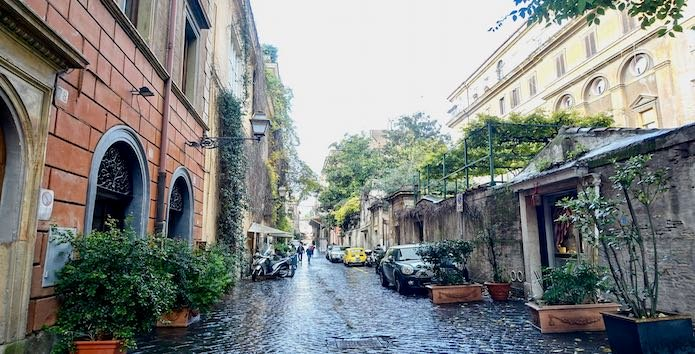 A side street in the Villa Borghese area