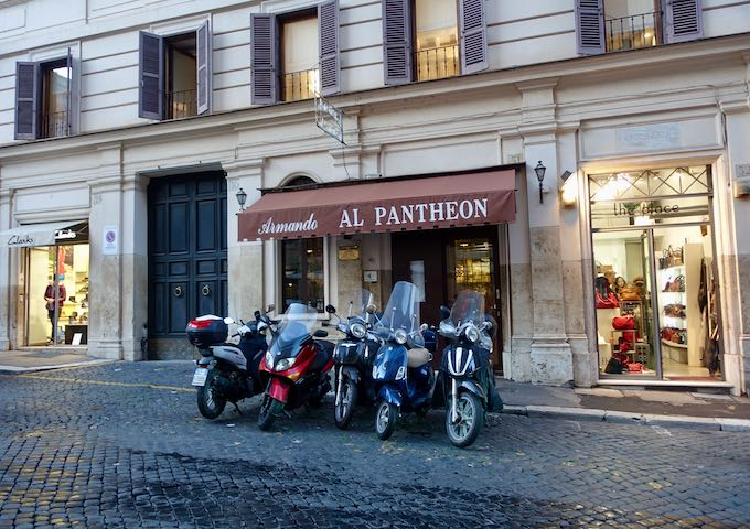 Armando al Pantheon restaurant in Rome