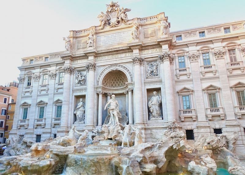 The Trevi Fountain in Rome