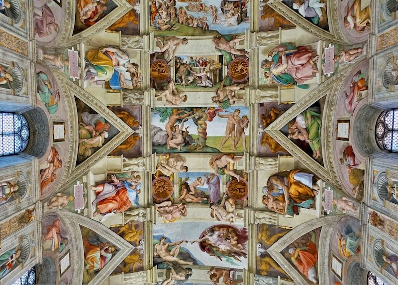 Sistine Chapel in the Vatican near Rome