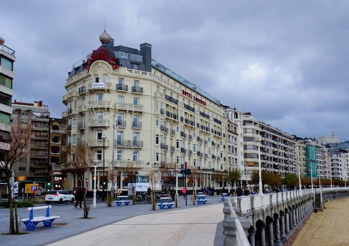 Hotel de Londres y de Inglaterra in San Sebastián, Spain.
