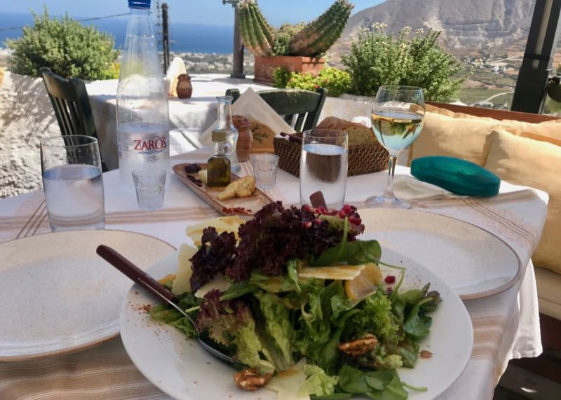 santorini metaxi mas restaurant lunch