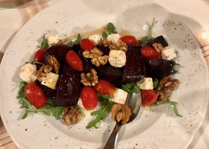 santorini metaxi mas restaurant rocket salad