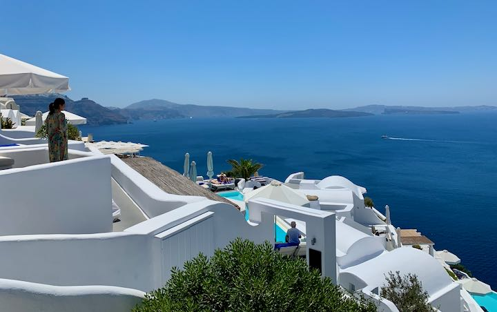 Katikies Resort in Oia, Santorini.