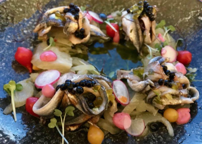 santorini restaurant avocado anchovies