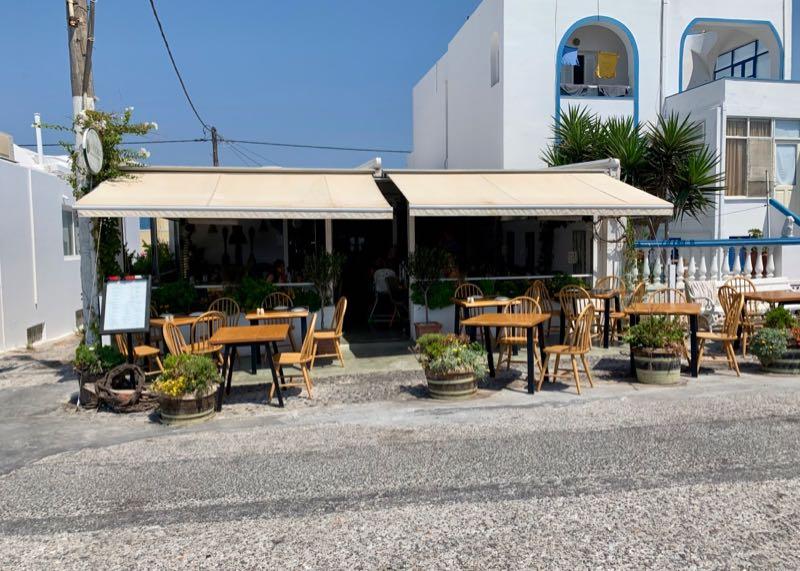 santorini restaurant avocado front