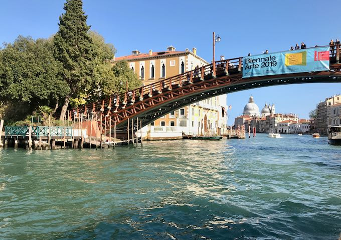 Ponte dell'Accademia connects Dorsoduro to San Marco.