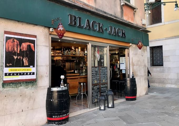 Black Jack has an excellent collection of Veneto wines.