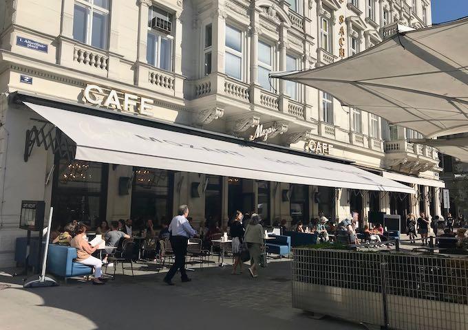 Café Mozart serves classic Viennese dishes.