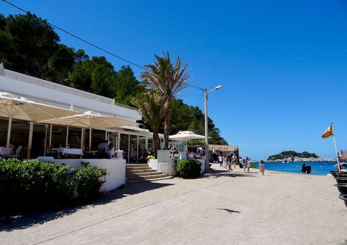 Port de Sant Miquel beach has 2 fantastic seafood restaurants.