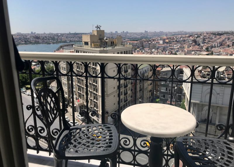 The suite's terrace offers great views.