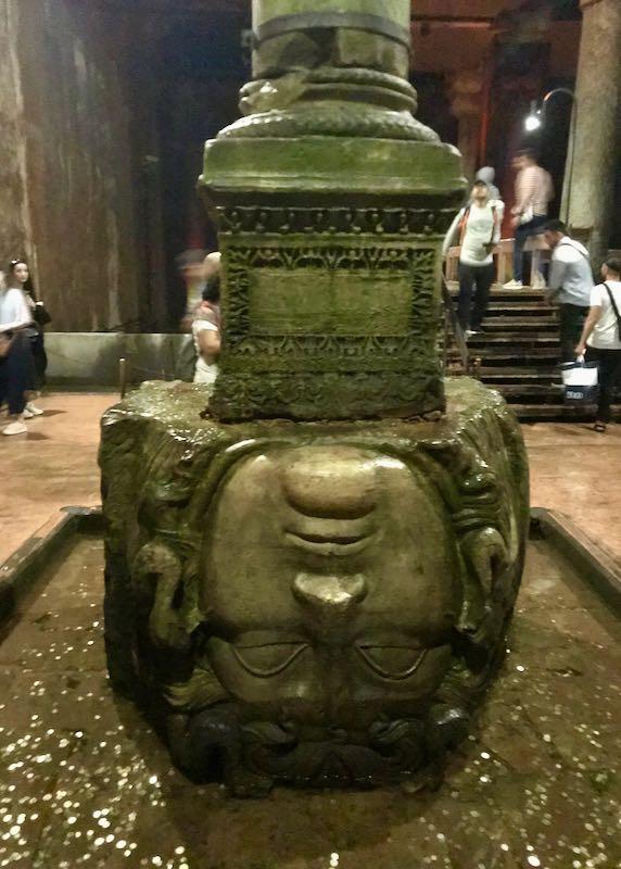 The Basilica Cistern has a cool Medusa pillar.